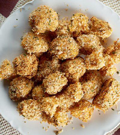 Bites de coliflor rostizados