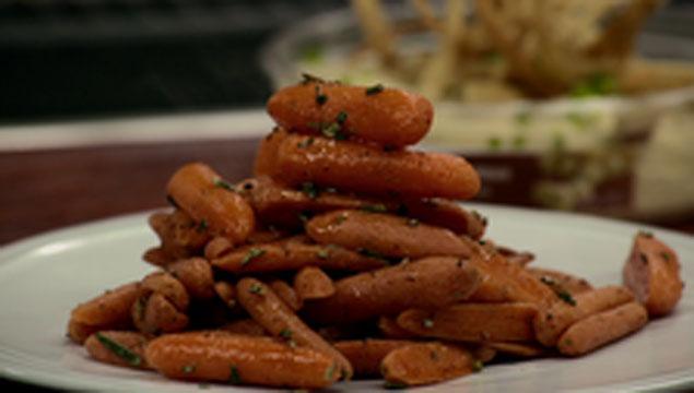 Botana de zanahorias rostizadas con miel