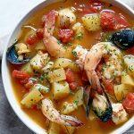 bullabesa: sopa de mariscos
