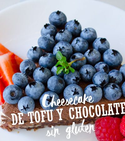 Cheesecake de Tofu y Chocolate sin Gluten
