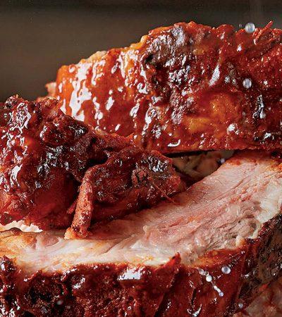costillitas de cerdo con rub picante