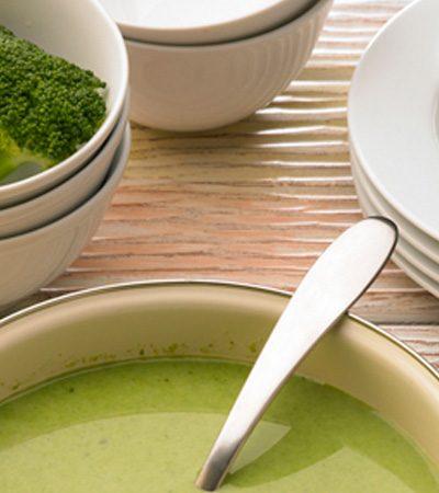 Crema de brócoli y espinacas