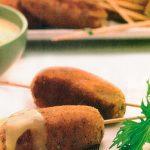 Croquetas de pescado con salsa de elote