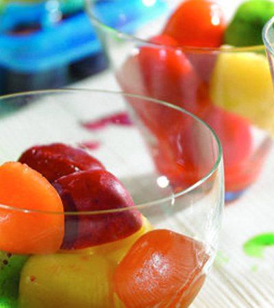 Cubos de hielo de sabores