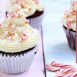 cupcakes de chocolate con dulce de menta