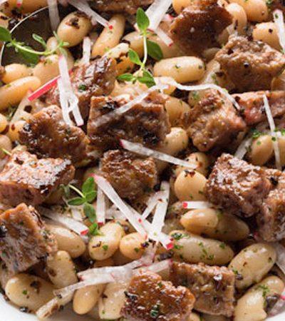Ensalada de Alubias con Chorizo de Pavo