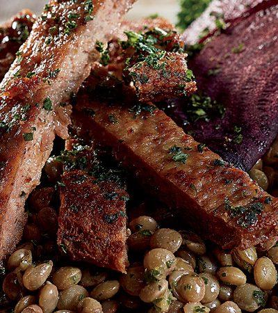 Ensalada de Lentejas con Betabel y Kale