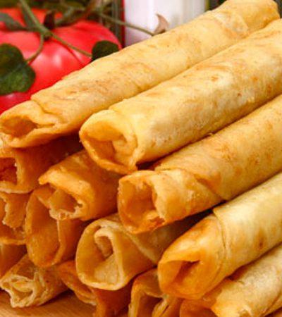 Flautas de surimi