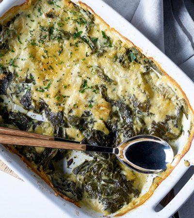 formaggio de alcachofa pimientos y espinacas