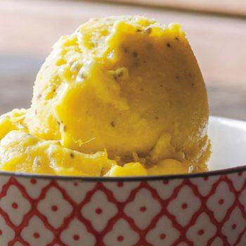 helado facil de mango y chia