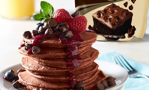 Hotcakes de chocolate libres de gluten