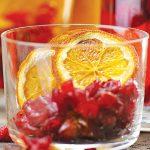 Infusión de naranja con arándanos