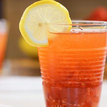 limonada de frambuesa y limon amarillo