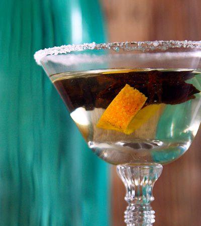 Martini de anís y naranja