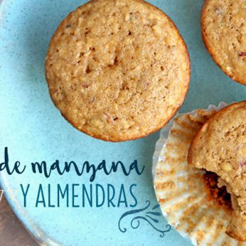muffin de manzana y almendras