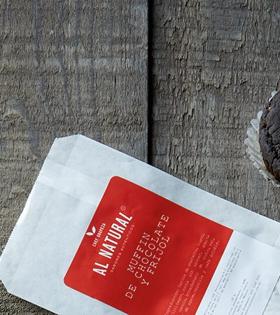 Muffins de chocolate y Frijol