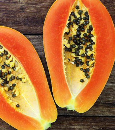 papaya con miel