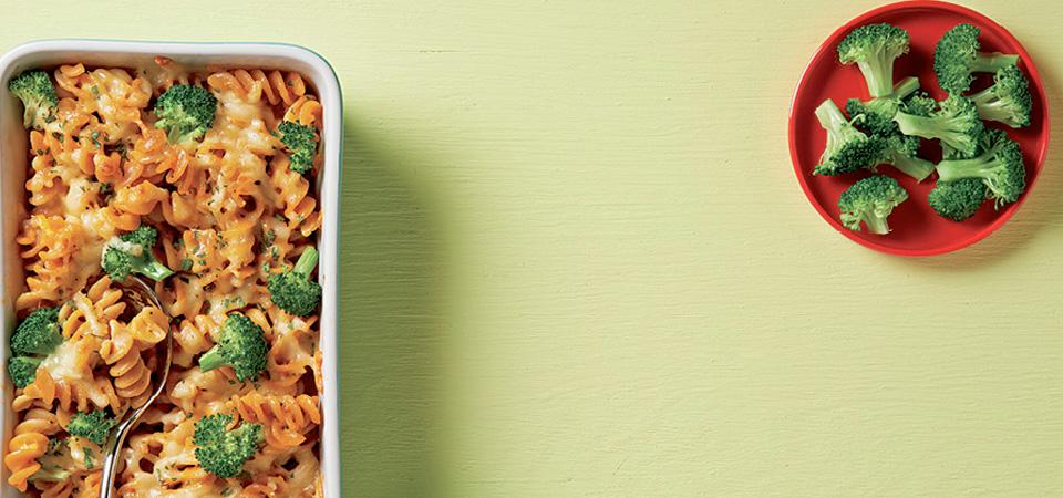 Pasta cremosa de brócoli al horno
