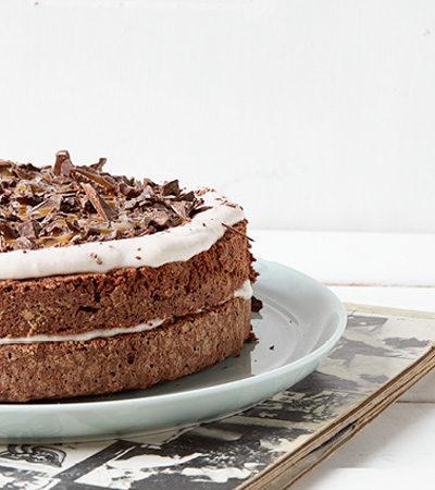 Pastel de Doble Chocolate y Plátano