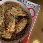 pechugas de pollo con salsa de lentejas y sidra