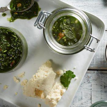 Pesto saludable de cilantro y almendra