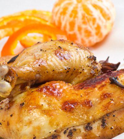 Piernas y muslos en salsa de mandarina