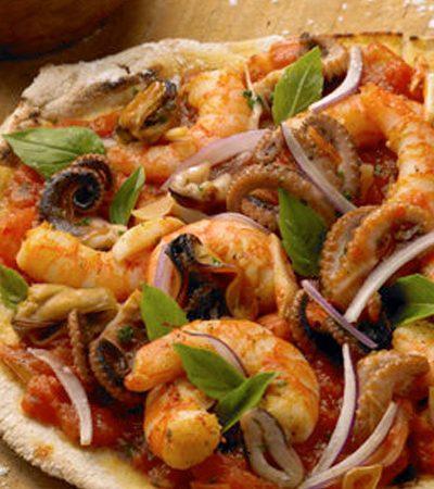 Pizza de mariscos