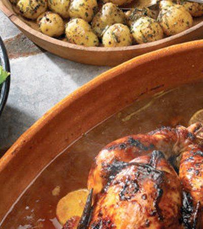 Pollo al horno marinado en cítricos