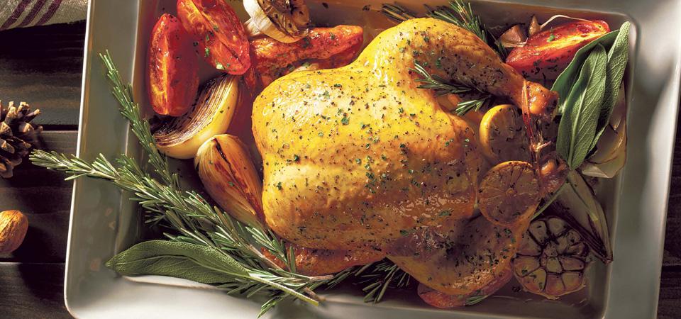 pollo de navidad rostizado con romero y aceite de oliva recetas
