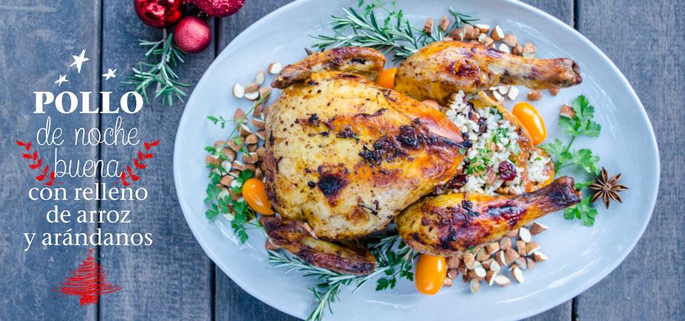 Pollo de Noche Duena con Relleno de Arroz y Arándanos