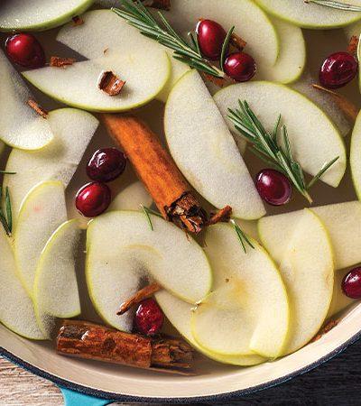 Ponche de manzana con canela y jengibre