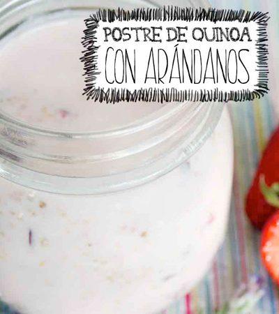 Postre de quinoa con arándanos