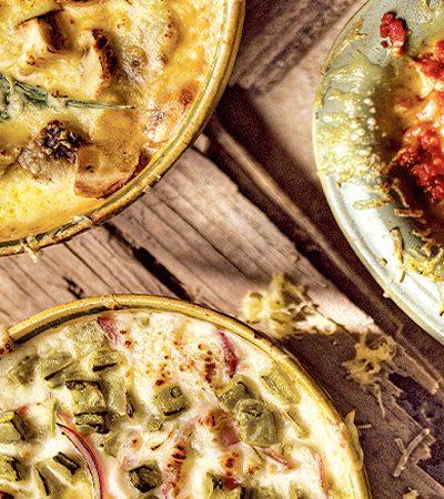 queso fundido con nopales
