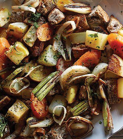 Relleno de vegetales con jengibre y manzana