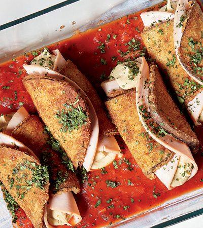 rollos de milanesa de berenjena rellenos recetas chef oropeza