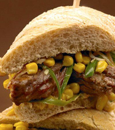 Sandwich de arrachera