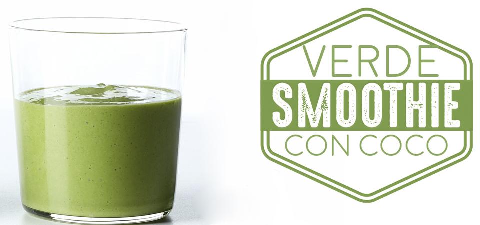 smoothie verde con coco
