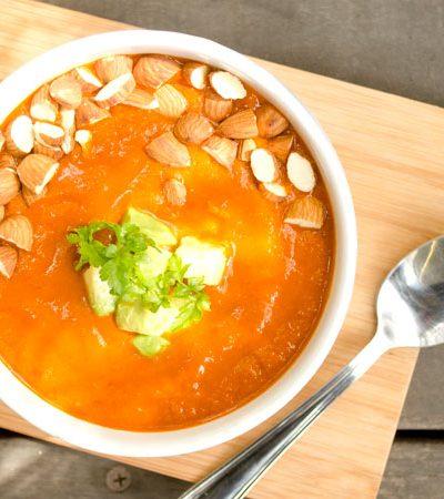 Sopa de chile ancho