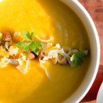 Sopa de coliflor y pimientos asados