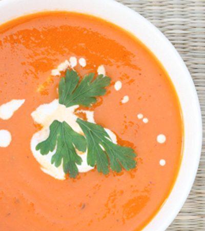 Sopa de tomates rostizados