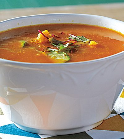 Sopa de zanahoria y coliflor