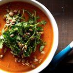 sopa de zanahorias con berros