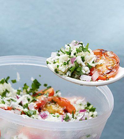 Tabbouleh de coliflor y tomates