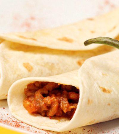 Tacos de machaca al chipotle