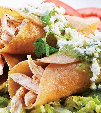 Tacos de pollo horneados