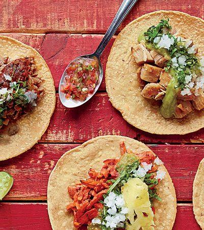 tacos vegetarianos de portobello