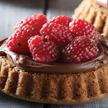 Tartas de frambuesa y chocolate