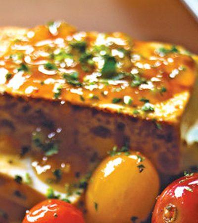 Tofu a la plancha con salsa de cherry