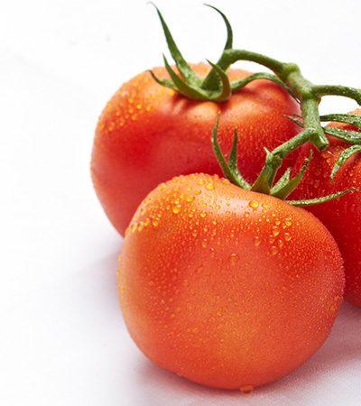 tomate relleno de queso cottage