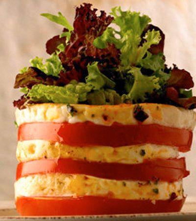 Torre de queso panela y guajillo